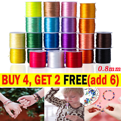 £2.65 • Buy 1x 0.8mm Elastic Stretch Beading Thread For Jewellery Bracelet Making    Crafts