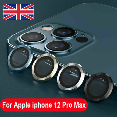 £2.99 • Buy 2/3Pcs For IPhone 12Pro/Pro Max Metal Ring+Tempered Glass Camera Lens Protector
