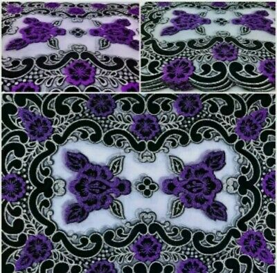 £2.98 • Buy Glitter Purple Floral Dinning Coffee Side Table Decoration Mat Table Protector