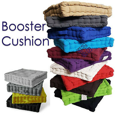£10.95 • Buy 4 Inch Soft Square Booster Cushion Floor Chair Pad Sofa Seat Garden Office Home