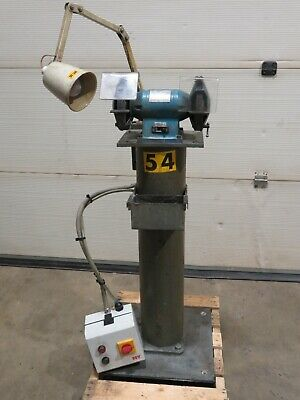 £120 • Buy Wolf 150mm 3 Phase 0.35HP Bench Grinder On Pedestal With Lamp Fully Working