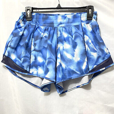 $ CDN59.15 • Buy Lululemon Size 10 Tall Blue Tie Dye Shorts With Lining Excellent