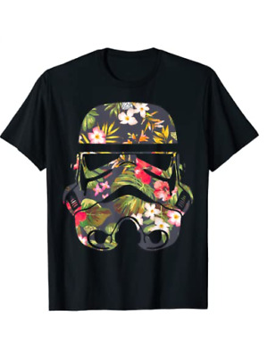 $14 • Buy Tropical Stormtrooper Floral Print Graphic T-Shirt T-Shirt