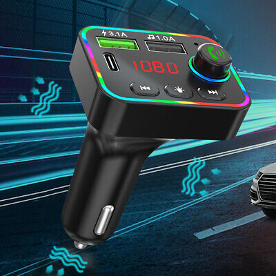 £6.69 • Buy Wireless Car Kit FM Transmitter Bluetooth MP3 Player Dual USB Charger Handsfree