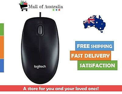 AU13.99 • Buy Logitec Corded Mouse M90 Black Wired USB Optical Tracking   NEW  