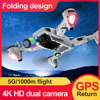 AU127.99 • Buy RC Drone With Camera 4K 5G Wifi GPS Foldable Optical Flow Positioning 2 Battery