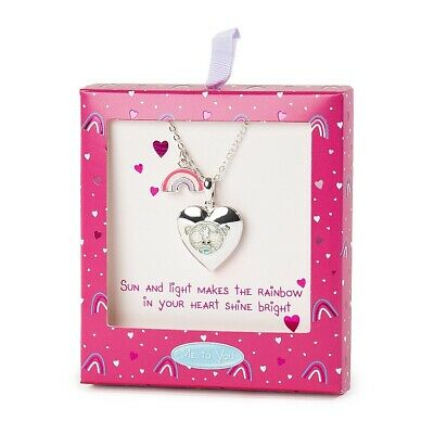 £12.99 • Buy Me To You Tatty Teddy Silver Plated Locket Rainbow Charm Necklace