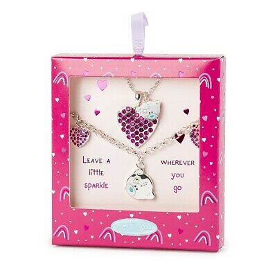 £13.99 • Buy Me To You Tatty Teddy Silver Plated Pink Heart Bracelet & Necklace Set