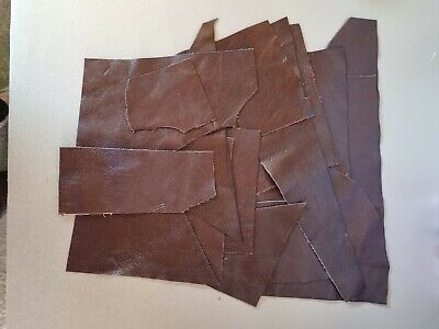 £3.99 • Buy Brown Real Leather Bundle Various Sizes Arts Crafts Repairs Upholstery Remnants