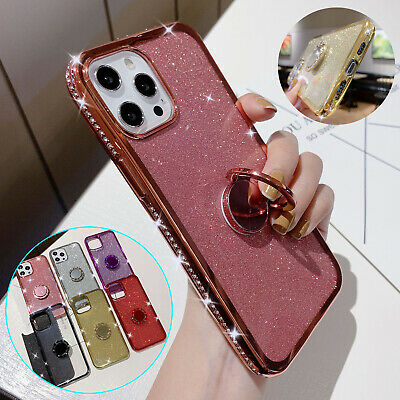 AU13.99 • Buy For IPhone 11 12  Pro Max 13 XS XR 8+ Bling Shockproof TPU Stand Ring Case Cover