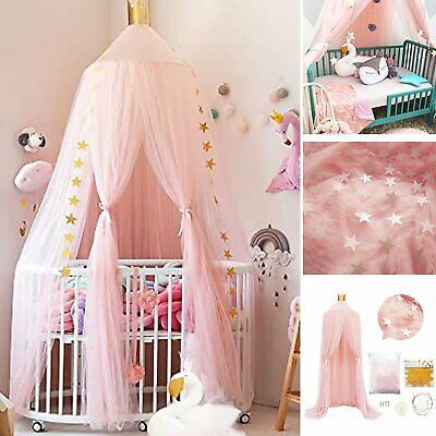 £9.99 • Buy Dome Baby Mosquito Net Canopy Bed Netting Mesh Princess Bedding Cover Fly Insect