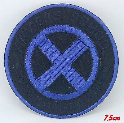 £1.99 • Buy Xaviers School Blue X-men Iron Or Sew On Embroidered Patch #417-b