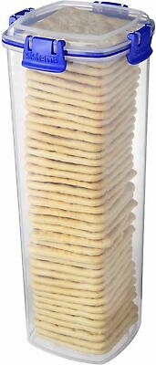 £12.29 • Buy Plastic Box Storage Save Biscuits Seal Clips Cracker Keeper Tupperware Container
