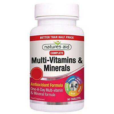 £6.88 • Buy Natures Aid Complete Multi-Vitamins And Minerals 90 Tablets One-a-Day Formula