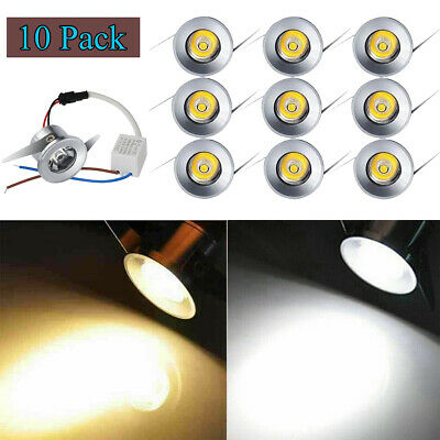 £19.99 • Buy 10Pcs LED Recessed Cabinet Spot Lamp Ceiling Downlight Kit Fixture With Driver