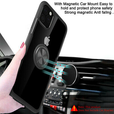 AU5.90 • Buy Metal Magnetic Case Cover With Car Ring Holder Buckle For IPhone 12 11 XS Max 8