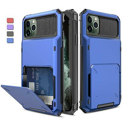 AU7.49 • Buy Rugged Case Cover With Card Wallet Holder Slot For IPhone 11 Pro Max X XR XS Max