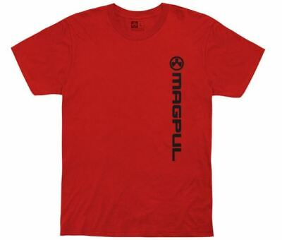 $23.17 • Buy Magpul 122048 Vertical Logo Fine Cotton Small Red T-Shirt