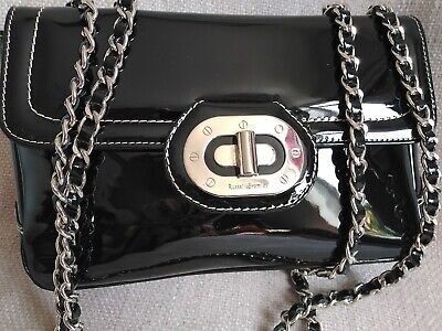 £50 • Buy RUSSELL & BROMLEY Black Patent Leather Chain Bag