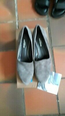 £25 • Buy Ladies Grey Suede Wedge Shoes By AUDLEY LONDON,size 6,NWB