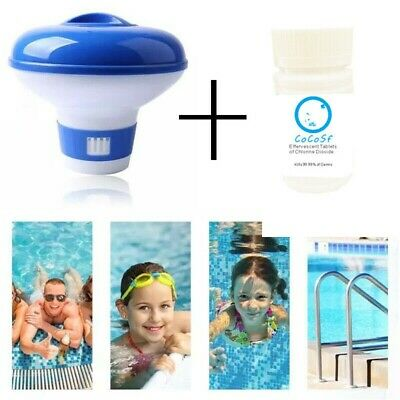 £10.84 • Buy Swimming Pool Hot Tub Chemical Dispenser Floating Chlorine Cleaning Tablets Kit