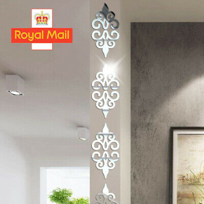 £4.69 • Buy 10Pcs/Set 3D Mirror Flower Wall Sticker Acrylic Mural Decal Wall Removable Decor