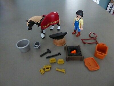 £4.99 • Buy Playmobil Country Horse Farrier/blacksmith Shire