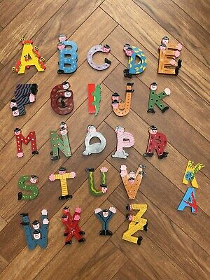 £30 • Buy 38 Mixed Wooden Alphabet Letters Animals & Clown Decorations