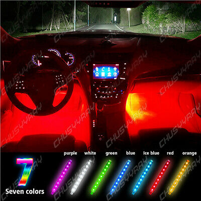 $15.59 • Buy Led Light Strip For Cars Inside Lighting Interior Accessories Glow Full Color US