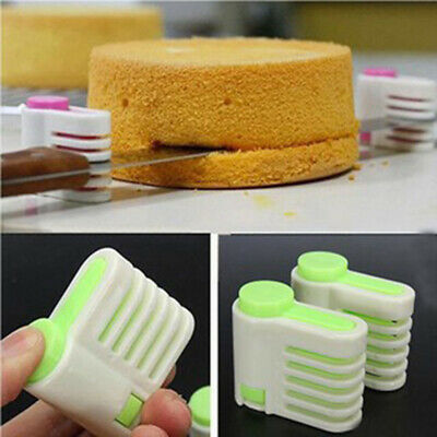 £5.79 • Buy 2pc DIY 5Layers Cake Bread Cutter Leveler Slicer Cutting Fixator Levellers Tool*