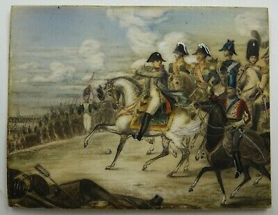$2995 • Buy French 19th Century Napoleon Military Leipzig Battle Miniature Painting Vernet