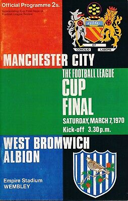 £4.99 • Buy LEAGUE CUP FINAL PROGRAMME 1970 Manchester City V West Brom