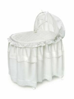 $154.26 • Buy Portable Rocking Baby Bassinet With Toybox Base Long Skirt And Pad