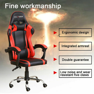 AU79.99 • Buy Gaming Chair Office Seating Racing Computer PU Leather Executive Racer Footrest