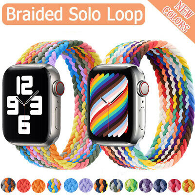 £3.99 • Buy Braided Solo Loop Nylon Band Strap For Apple Watch Series 6 5 4 3 SE 38/40/44MM