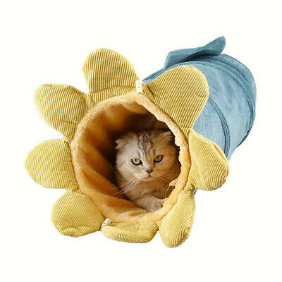 £15.68 • Buy Puppy Pet Supplies Cat Collapsible Tunnel Tube Winter Corduroy Thicken Hideout C