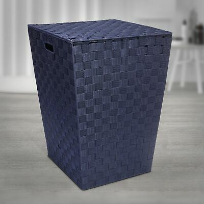 £24.99 • Buy EHC Woven Pattern Laundry Storage Hamper Basket With Lid - 4 Colours