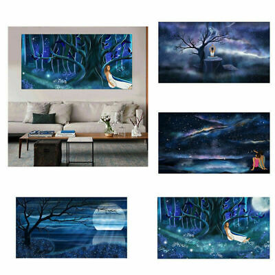 £4.68 • Buy Romantic Starry Night Picture Art Prints Room Wall Decor Poster Unframed