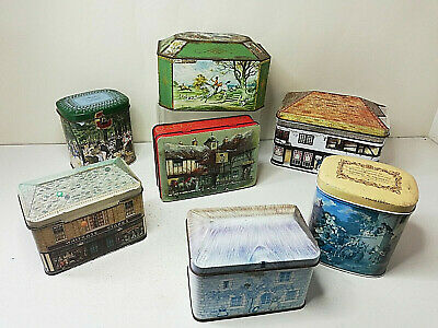 £8.95 • Buy Bundle Of 7 X Vintage Biscuit & Toffee/ Sweet Tins Incl Gray Dunn & Co Sports