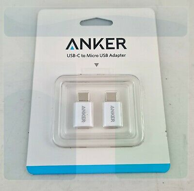 AU14.60 • Buy [2 In 1 Pack] Anker USB-C To Micro USB Adapter