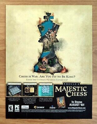 $15.98 • Buy Hoyle Majestic Chess PC | 2003 Vintage Game Print Ad Poster Art Official Sierra