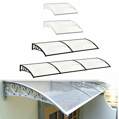 £35.95 • Buy Durable Door Canopy Outdoor Front Back Roof Awning Patio Porch Shade Rain Cover