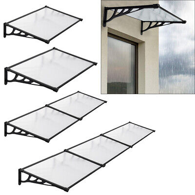 £25.99 • Buy Window Roof Outdoor Door Canopy Fixed Awning Porch UV Water Rain Cover Shelter