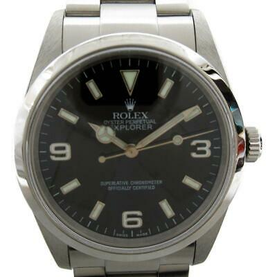 $ CDN10423.28 • Buy ROLEX Explorer 1 Watch 114270 Automatic Black Stainless Steel (SS) Used Mens