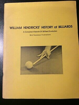 £25 • Buy William Hendricks History Of Billiards. A Compleat Historie. 1974 Good Condition