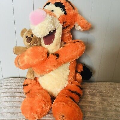 £8.99 • Buy Stamped Disney Store Exclusive Tigger Plush Soft Toy Holding Small Teddy Bear