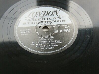 £24.99 • Buy Big Maybelle 1958 Uk 78  All Of Me  I Don't Want To Cry London Hl-c.8447
