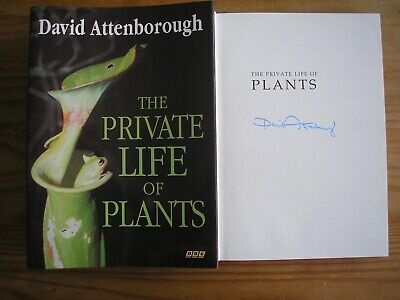 £179.99 • Buy DAVID ATTENBOROUGH - THE PRIVATE LIFE OF PLANTS  HB/DJ   1st/1st 1995  SIGNED