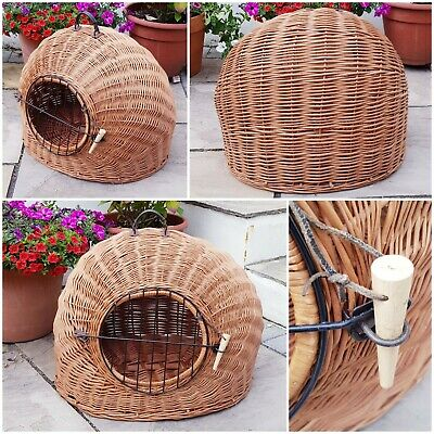 £44.99 • Buy Vintage Wicker Rattan Large Pet Carrier Iglo Basket Cat Small Dog 24  X 20