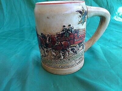 $ CDN69.24 • Buy 1980 Budweiser Cs19 1st Holiday Christmas Stein Champion Clydesdales